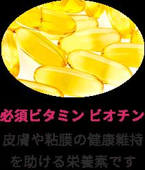 必須ビタミン ビオチン 皮膚や粘膜の健康維持を助ける栄養素です